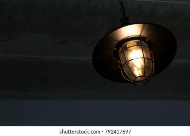 ceiling light background.