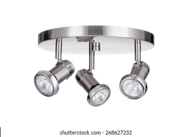 Ceiling light fixture isolated on white background