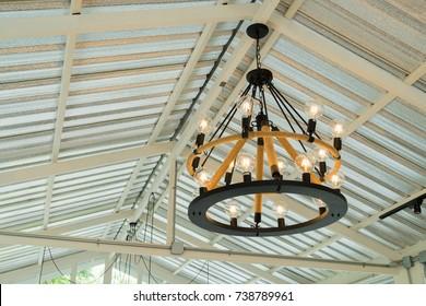 Ceiling light vintage design for restaurant and coffee shop.