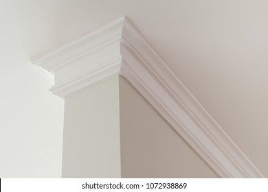 Ceiling moldings in the interior intricate corner