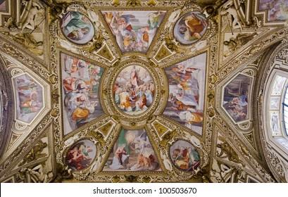 Ceiling in Santa Maria in Trastevere, Rome