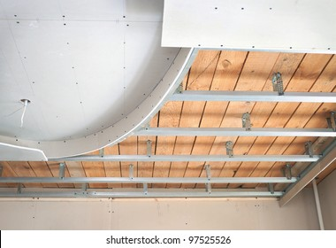 Ceiling suspended of drywall construction