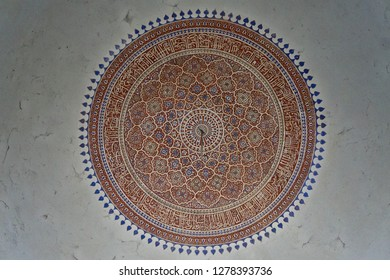 Ceiling of tomb in New Delhi, India. From a mughal style.