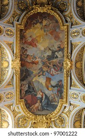 ceiling's church Saint Louis of the French, Rome, Italy