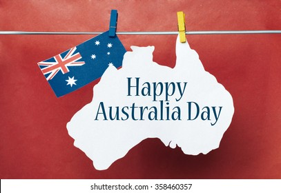 Celebrate australia day holiday on january stock photo edit now celebrate australia day holiday on january 26 with a happy australia day message greeting written across m4hsunfo