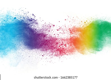 Celebrate festival Holi. Indian Holi festival of colours.Holi color festival background