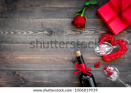 Celebrate Valentines Day Wine Glasses Red Stock Photo Edit Now
