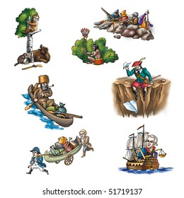 The celebrated explorer in America_2
