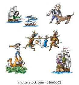 The celebrated explorers in Australia_1