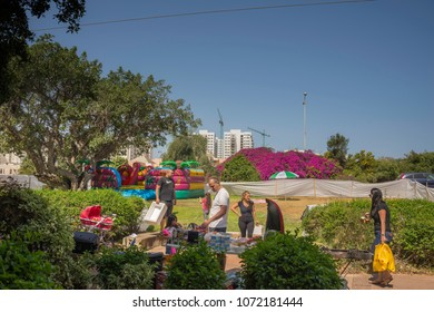 Celebrating the 70th anniversary of the State of Israel. Ashkelon 19 April 2018