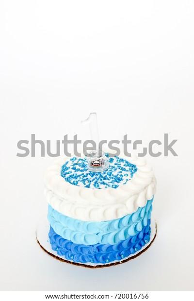Marvelous Celebrating Baby Boys First Birthday Blue Stock Photo Edit Now Personalised Birthday Cards Petedlily Jamesorg