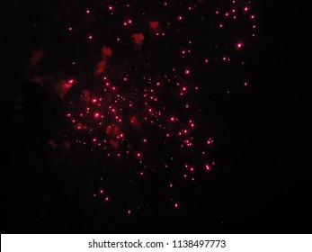 Celebrating Bastille day 2018 in Annecy with fireworks
