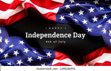 Celebrating Independence Day. United States of America USA flag background for 4th of July
