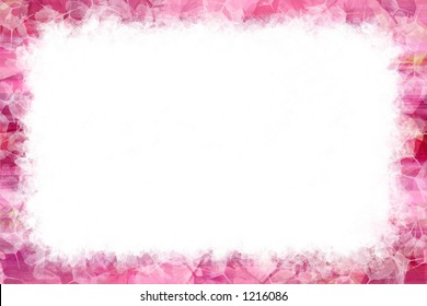 Celebrating Spring with a pretty pink grunge frame.