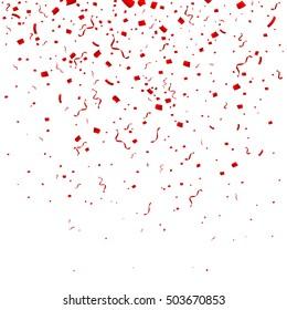 Celebration background with confetti. Isolated on white background.