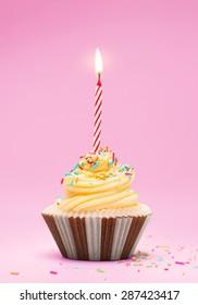 Celebration cupcake, first birthday