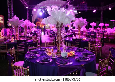 celebration dinner table for gala night