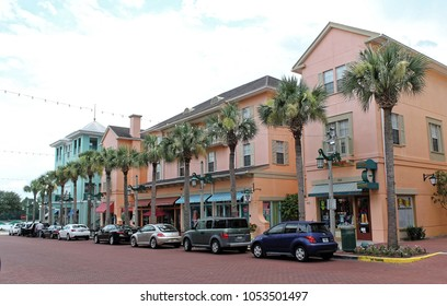 Celebration, Florida, USA - July 29, 2016: Celebration is a census-designated place and a master-planned community, located near Walt Disney World Resort and developed by The Walt Disney Company