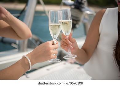 celebration on yacht