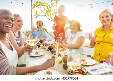 Celebration Party Backyard Friendship Enjoyment Concept