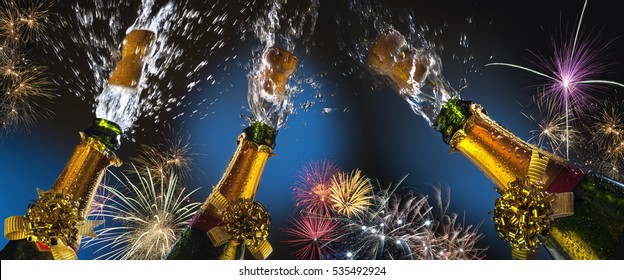 Celebration - Party Time. Celebrating great events with fizz and fireworks. Things such as Weddings, New year, New Life, Success and Winning.
