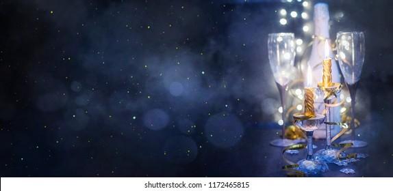 Celebration theme with champagne wine