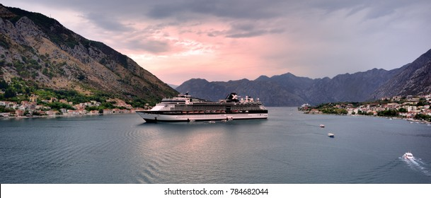 Celebrity Constellation at anchor in the Bay of Kotor in September 2017
