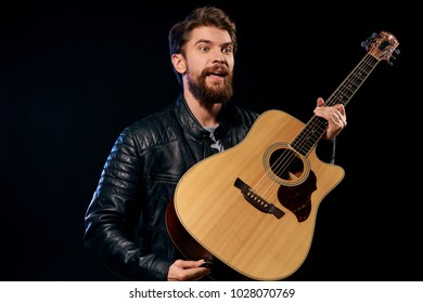 celebrity, man with guitar