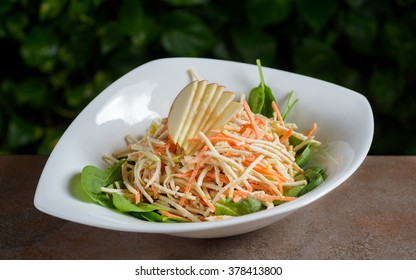 Celery, carrot and apple salad