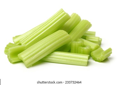 celery on a white background