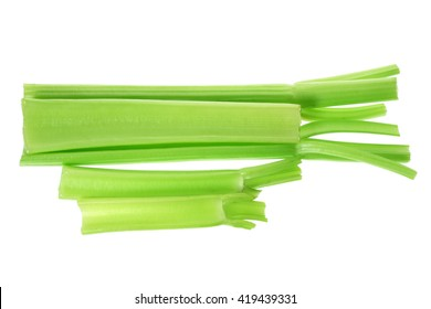Celery Stalks on White Background