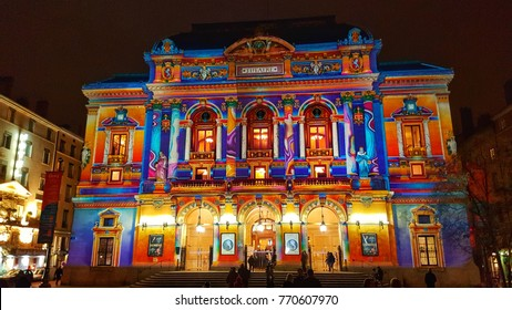 celestins theatre, festival of lights, lyon, france