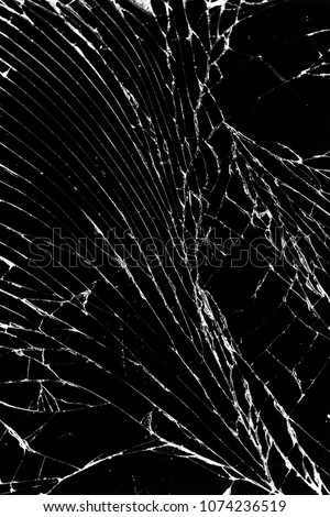 cell phone with broken glass cracked screen wallpaper look like marble black dark