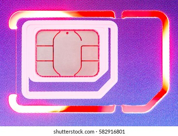 Cell Phone Card with colored light background