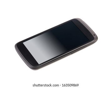 Cell phone with clipping path. Isolated on a white background.