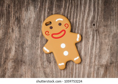 Cell phone cover ih gingerman shape