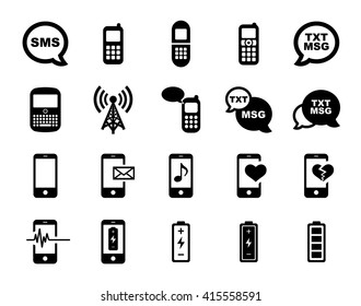 Cell Phone Icon Set.  Raster Version