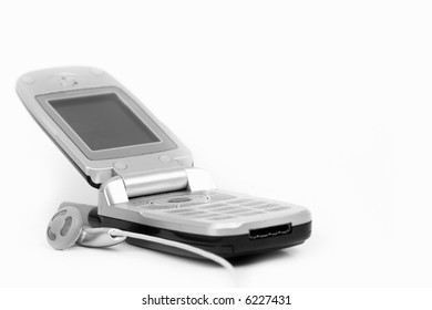 Cell phone isolated on white