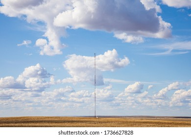 cell phone tower on the prairies