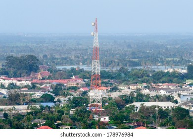 Cell Phone Tower in a town