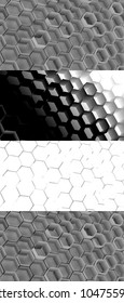 Cell Texture background with maps of global illumination, depth of the field and ambient occlusion
