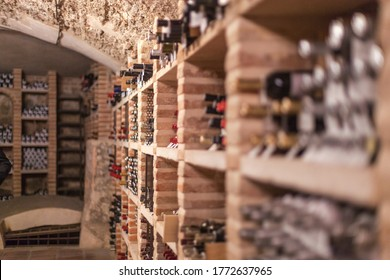Cellar with many bottles of wine - Shutterstock ID 1772637965