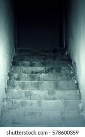 Cellar stairs from a horror movie