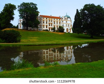 Celle - Castle  Celle Castle in the middle of a green park. Celle, Germany, 05/30/2018