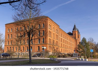 Celle, Germany - feb 20th 2021: Celle new town hall is a prominent brick building right outside old town.
