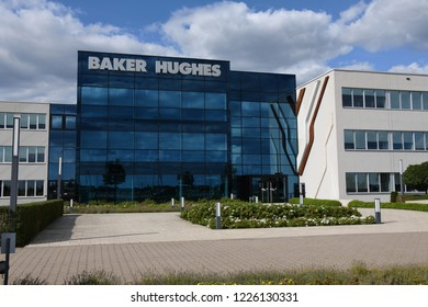 Celle, Lower Saxony / Germany - August 5, 2018: View of Baker Hughes in Celle, Germany - Baker Hughes is a GE company and the largest oil field services company