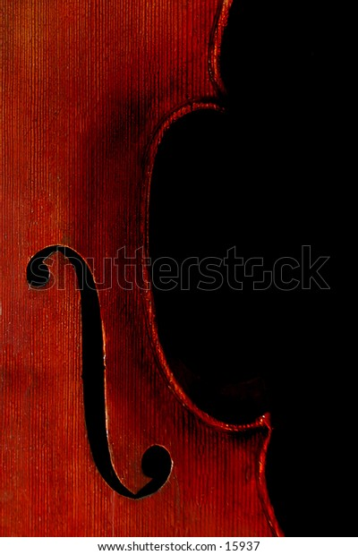 A cello isolated on black.
