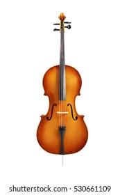 cello isolated on white