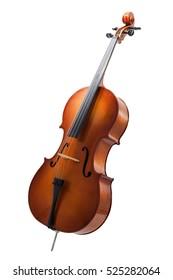 Cello einzeln auf Weiß