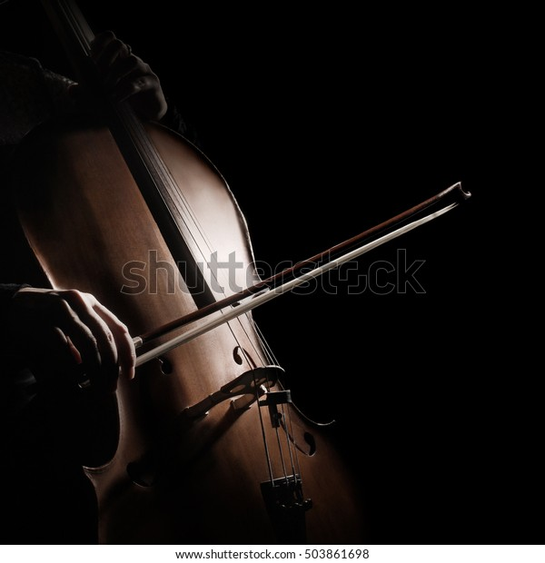 Foto De Stock Sobre Cello Reproductor De Violoncello Tocador